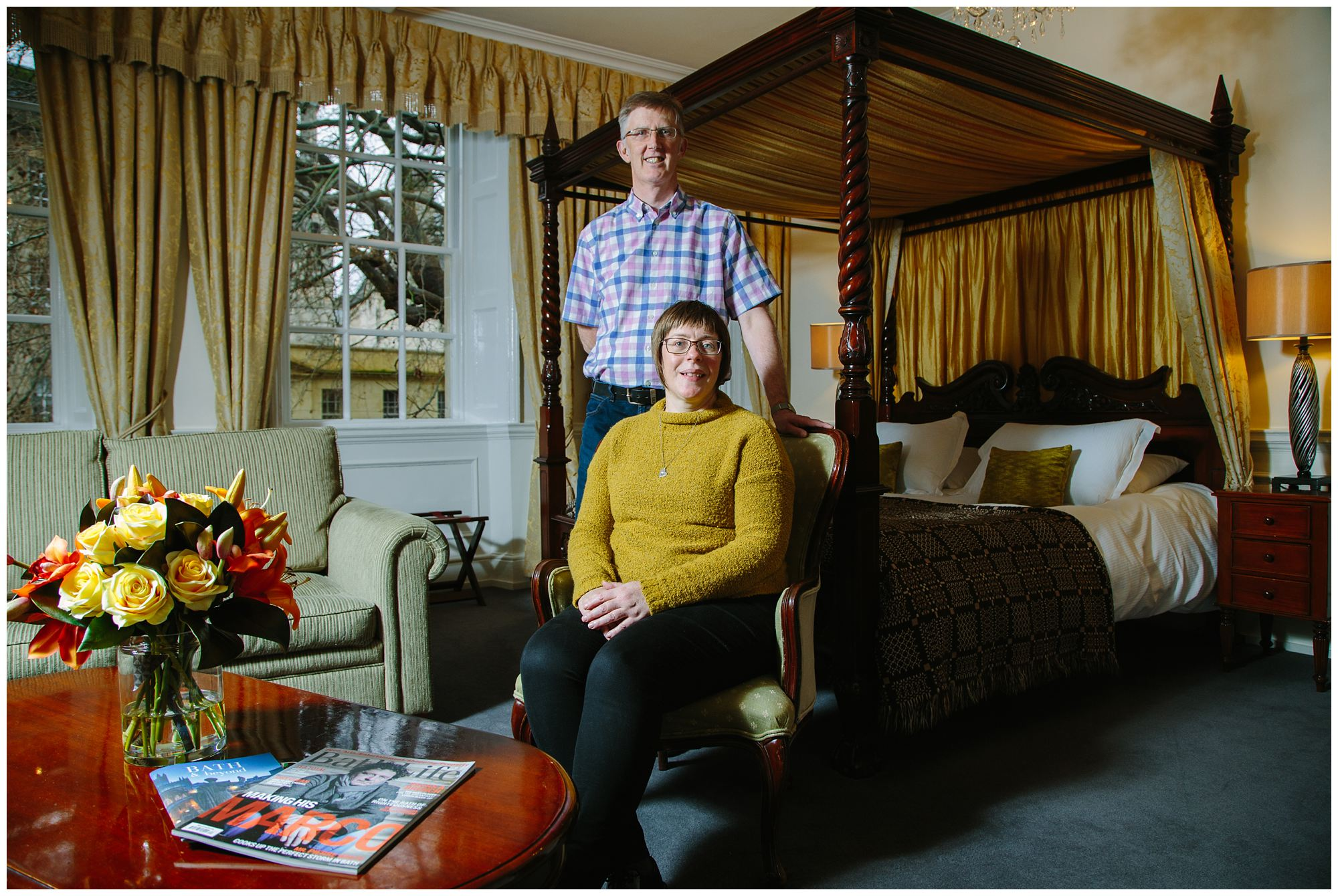 Portrait of Nici and Alan from Three Abbey Green Hotel in Bath